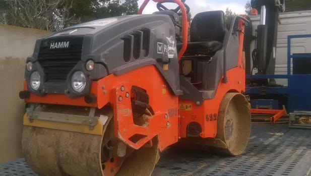 Una de las máquinas robadas en Madrid