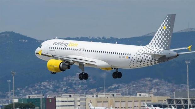 Imagen de un avión de Vueling