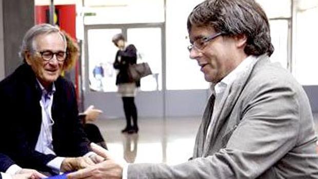 El expresidente y el exalcalde de Barcelona