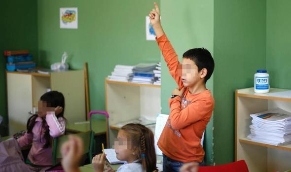 Un grupo de menores de un centro escolar en la provincia palentina
