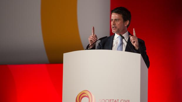 Manuel Valls, en un acto de Sociedad Civil Catalana en Barcelona
