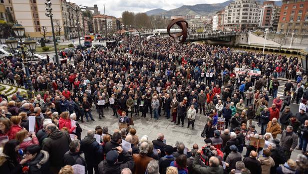 Manifestación por las pensiones dignas en Bilbao