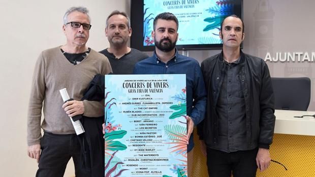 Imagen de la presentación del cartel de Conciertos de Viveros