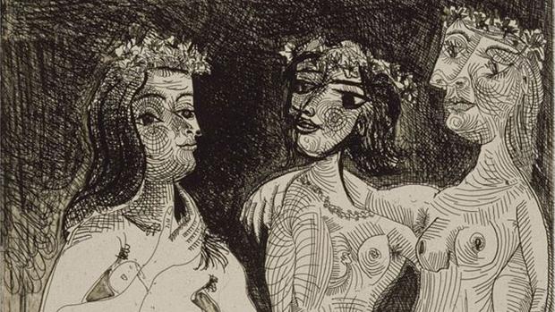 «Las tres gracias coronadas con flores» es un préstamo excepcional del Musée Picasso de París