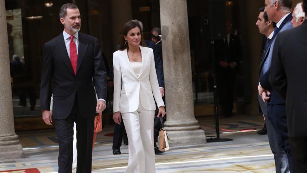 Los Reyes, el pasado jueves en el Palacio de El Pardo