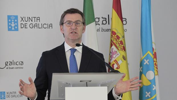 El presidente de la Xunta, Alberto Núñez Feijóo, durante su visita a México