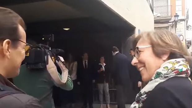 Captura del vídeo que muestra el comentario de Martínez Castro