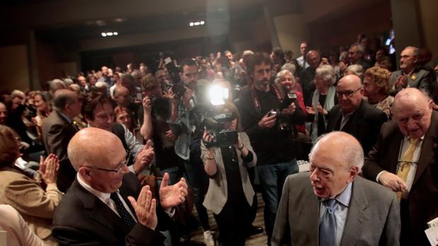 El expresidente catalán durante el acto organizado en su honor en Barcelona