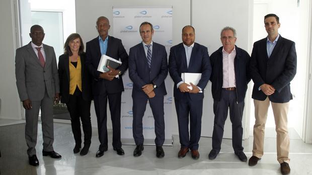 Visita de los representantes de Aguas de Malanje a las instalaciones de Global Omnium