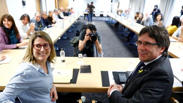 Reunión de Puigdemont con su grupo parlamentario en Berlín