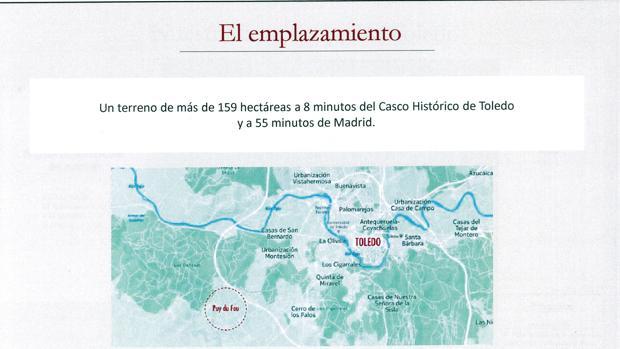 Plano de situación de la finca Zurraquín en Toledo
