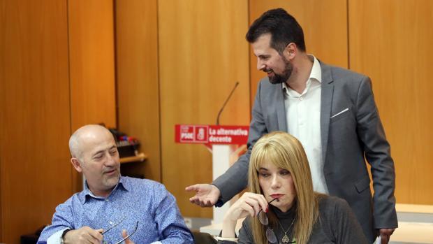 Luis Tudanca, este pasado jueves en la sede del PSOE de CAstilla y León