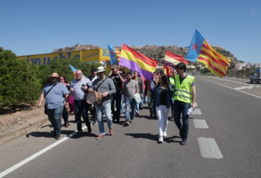 Imagen de la marcha celebrada este domingo en Sagunto