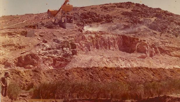 Momento en el que comenzaron las obras en 1976