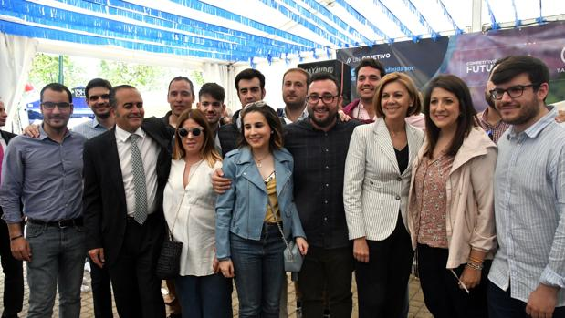 Cospedal, en la caseta del PP de Talavera