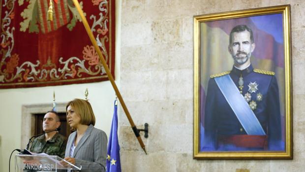 Imagen de la última visita de la ministra de Defensa a la sede de Capitanía en Valencia