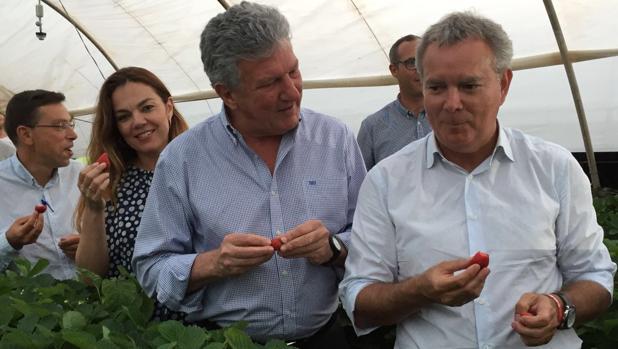 Francisco Atta, alcalde de Valsequillo, una concejal, y los diputados Quevedo (NC) y Franquis (PSOE)