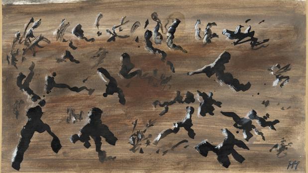 Una de las obras de Michaux que pueden verse en la exposición