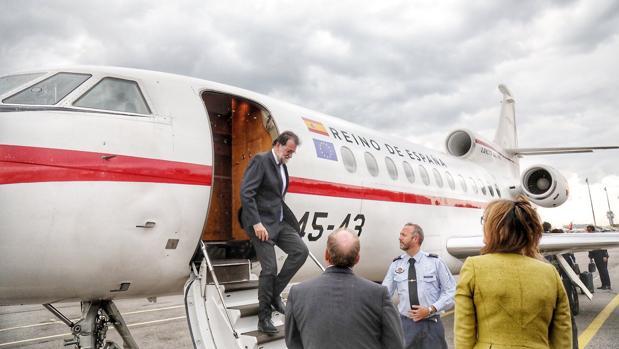 Mariano Rajoy, al aterrizar en Sofía