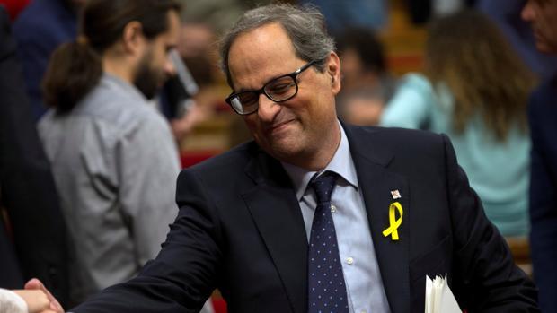 El presidente electo de la Generalitat, Quim Torra