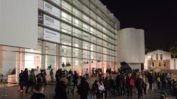 El MACBA durante otra edición de la noche de los museos