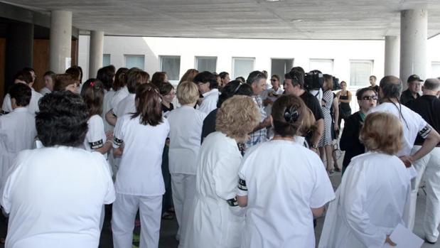 Enfermeras hospital general de Segovia, en una foto de archivo