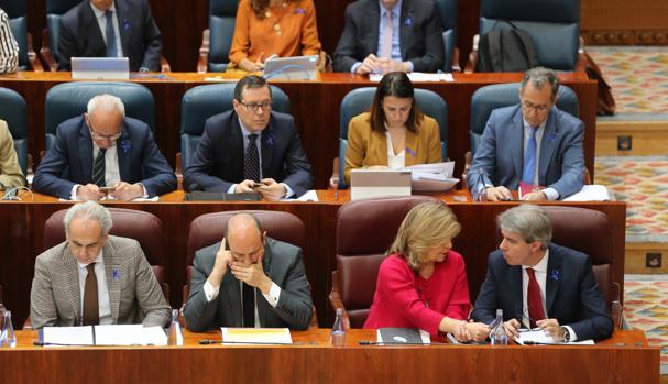 Banco del gobierno regional, en la Asamblea de Madrid