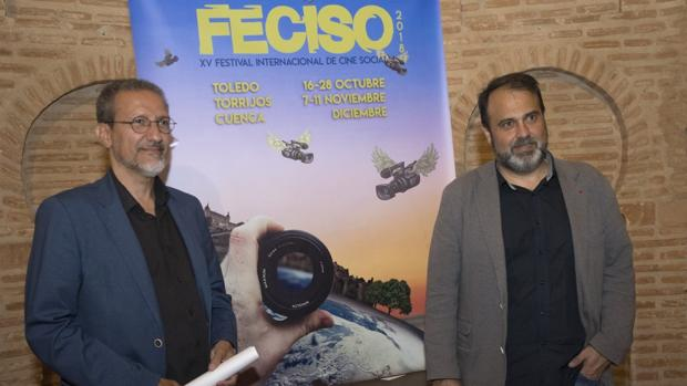 Tito Cañada y Javier Mateo, durante la presentación del concurso