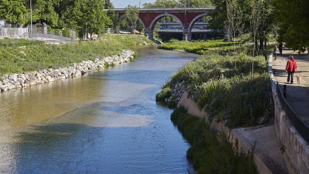 El aspecto actual del río Manzanares