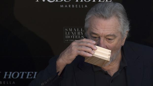 Robert De Niro, durante la presentación de su hotel en Marbella