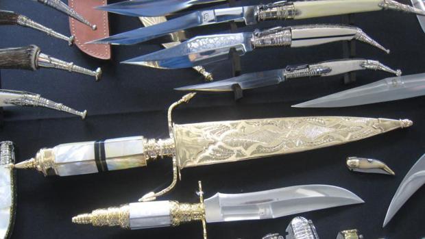 Algunas de las piezas del Museo de la Cuchillería de Albacete