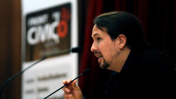 El secretario general de Podemos, Pablo Iglesias, en unas jornadas en Valencia la semana pasada