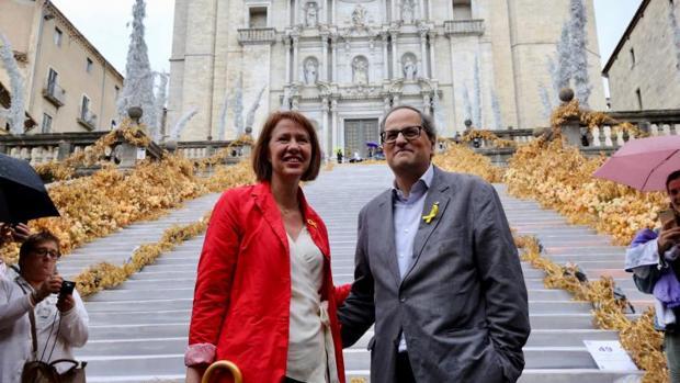 Torra, ayer en Gerona, durante la fiesta Girona Temps de Flors
