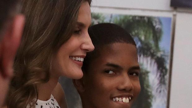 Ángel Ramírez, el niño que ha cantado a la Reina, junto a Doña Letizia