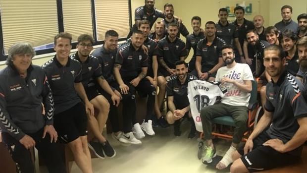 La plantilla del Albacete visitó a Pelayo este fin de semana, coincidiendo con el partido que tenían que jugar en la capital maña frente al Zaragoza