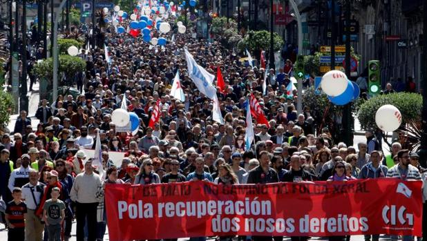 Manifestación del día del trabajador de la CIG en Vigo