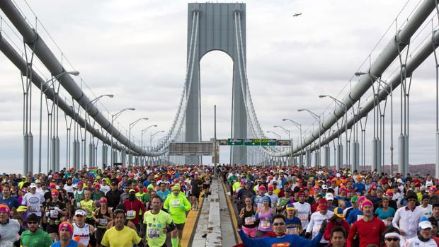 Corredores en el maratón de Nueva York