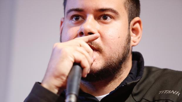 Pablo Hasel durante una conferencia