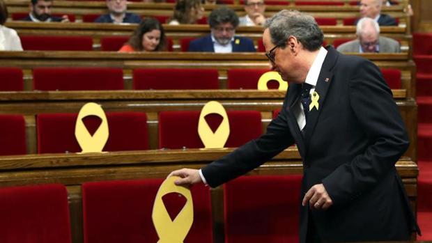 Torra, hoy, en el Parlamento catalán