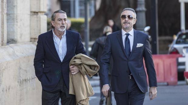 Francisco Correa a su llegada al Tribunal Superior de Justicia de Valencia