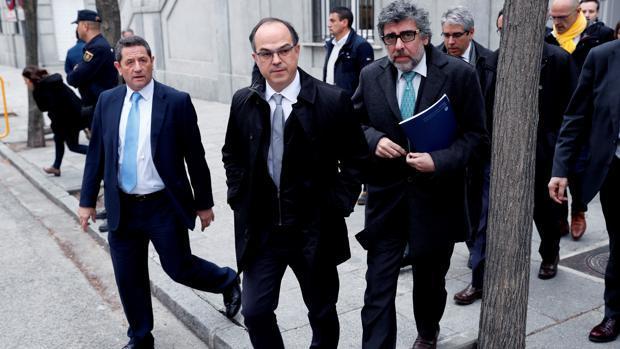 Jordi Turull, a las puertas del Supremo con su abogado Jordi Pina