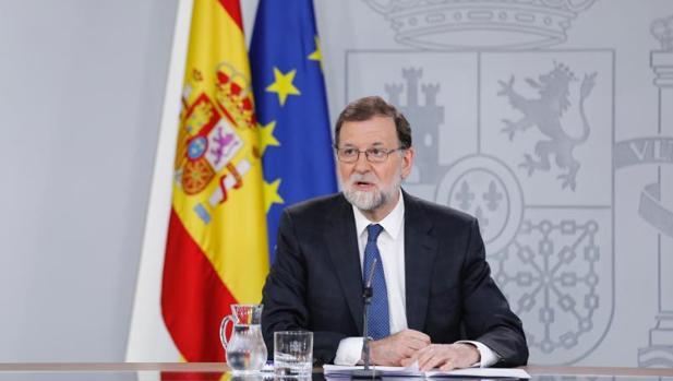El presidente del Gobierno, Mariano Rajoy, este viernes en La Moncloa