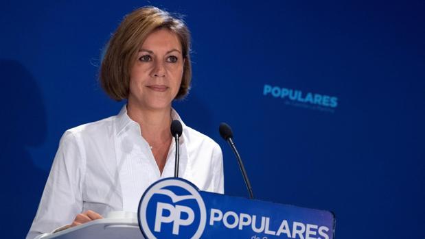 María Dolores de Cospedal, durante la reunión de Presidentes Provinciales del PP regional