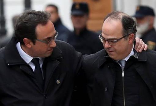 Los exconsejeros Josep Rull y Jordi Turull