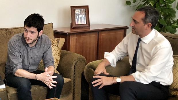 Antonio Estañ y César Sánchez, este miércoles en la Diputación de Alicante