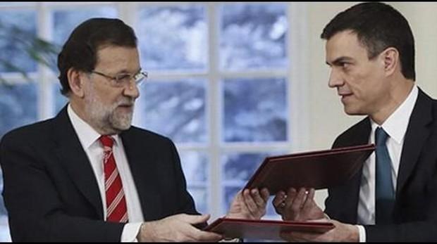 Imagen de archivo de Sánchez y Rajoy