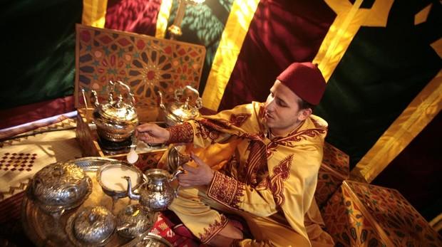 Una cata de té árabe, en una anterior edición del festival