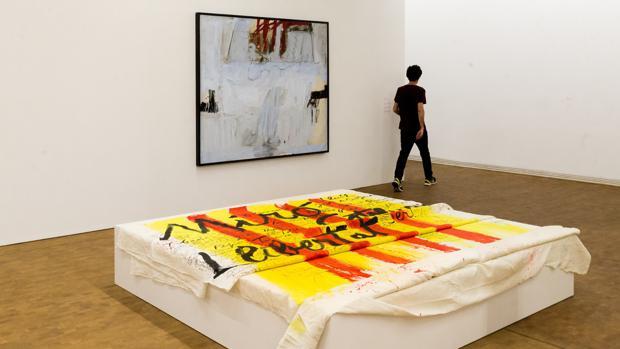Vista del homenaje a Miró de Tàpies