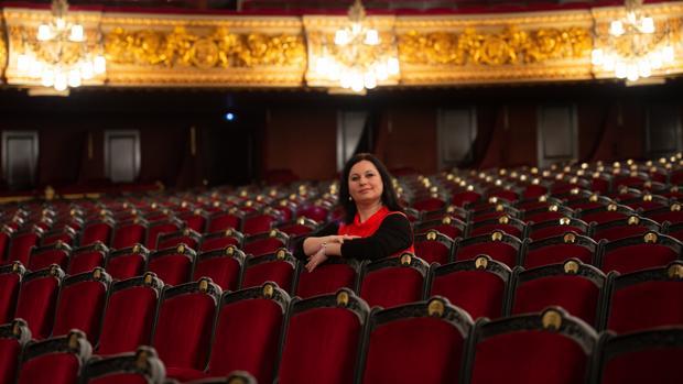 Liudmula Monastyrska, fotografiada en el Liceu