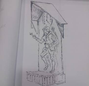 Boceto del autómata articulado para la calle Hombre de Palo